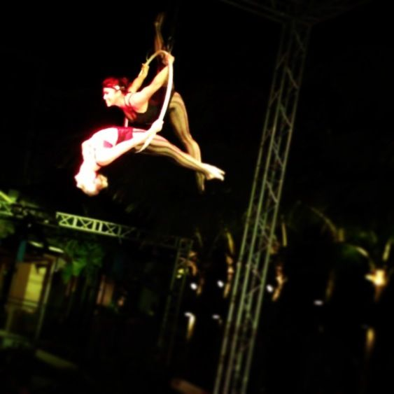 "Double Lyra ""Aerial Hoop"" Act"